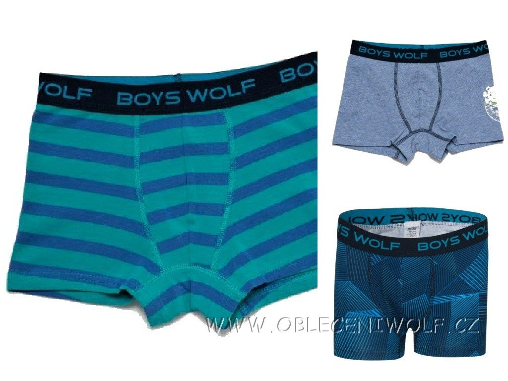 WOLF Chlapecké boxerky/trenky/trenkoslipy 134-164