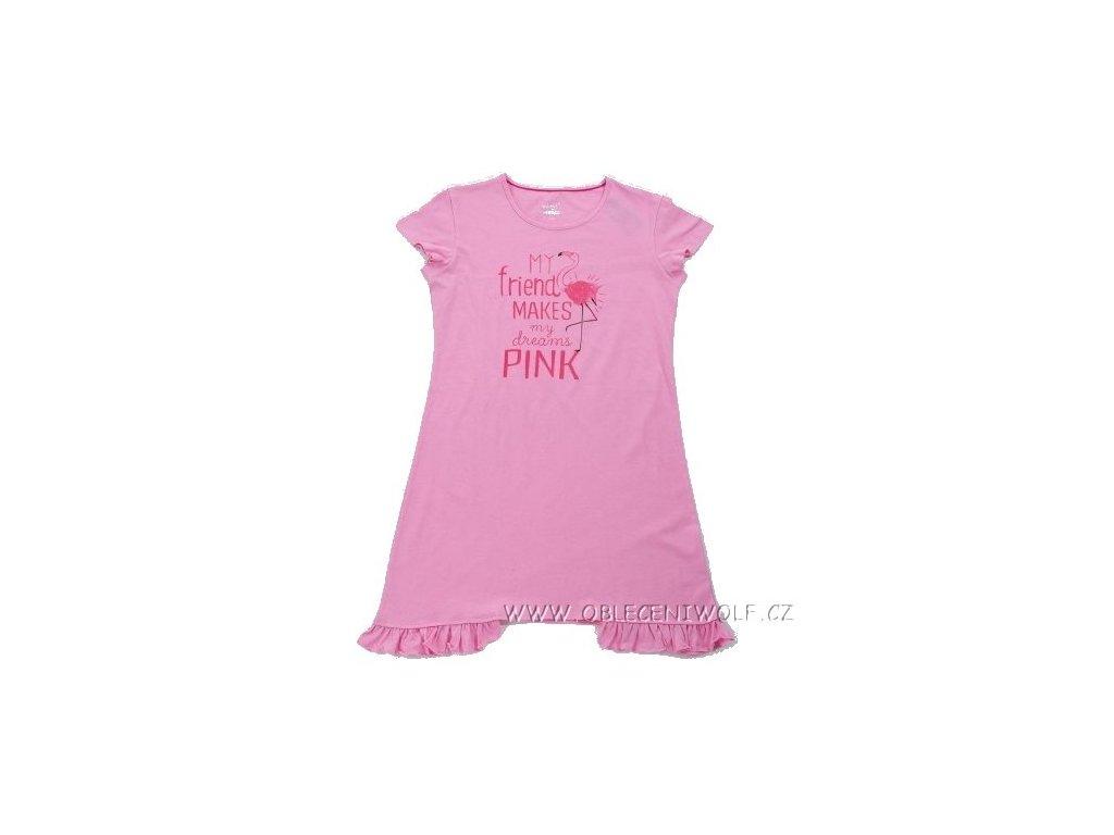 WOLF dívčí růžová noční košile S2882 vel. 134-164