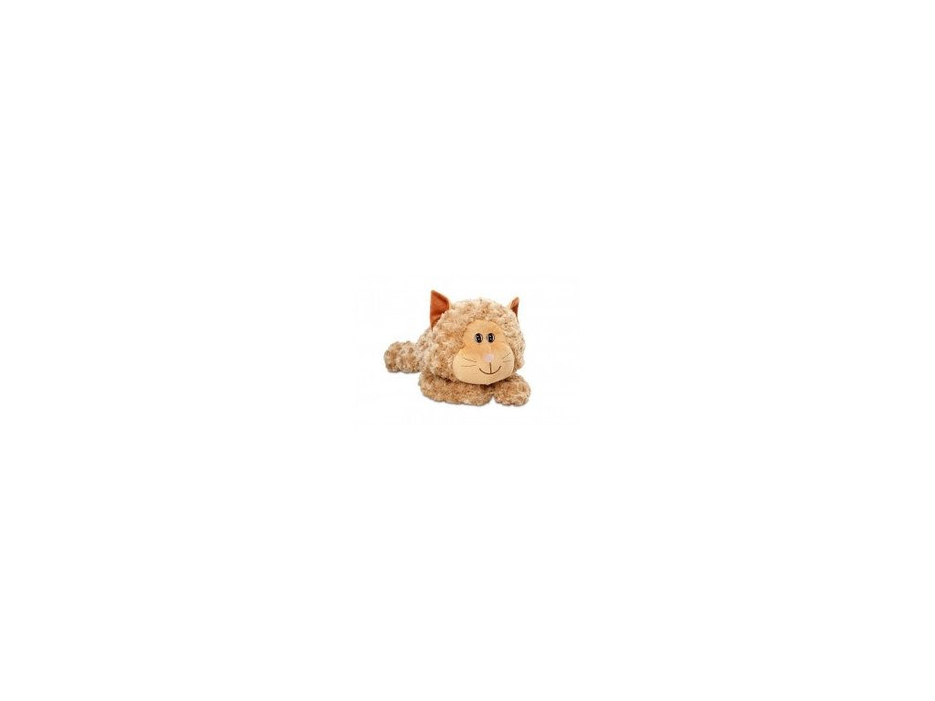 Plyšová kočička hnědá 38 cm