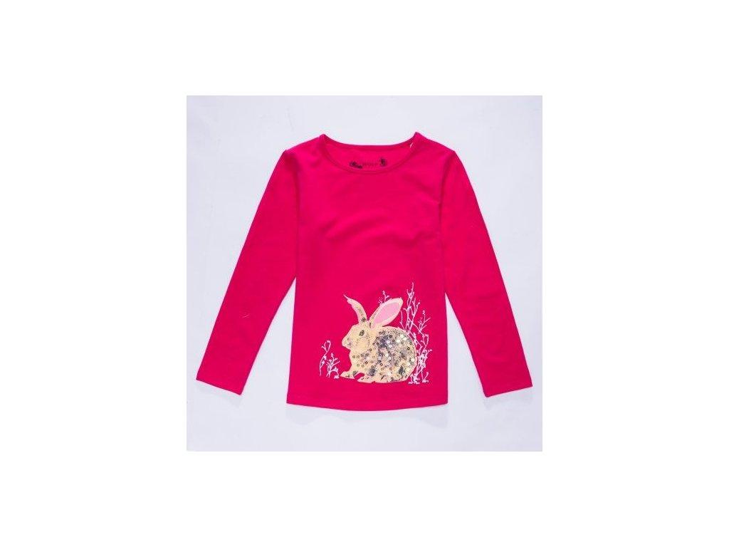 WOLF dívčí tričko tm. růžové S2841 vel. 98-128