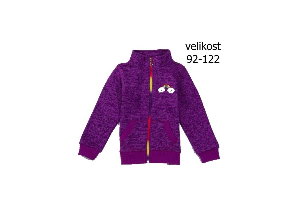 Dívčí fialová outdoor mikina B2821 vel. 92-122