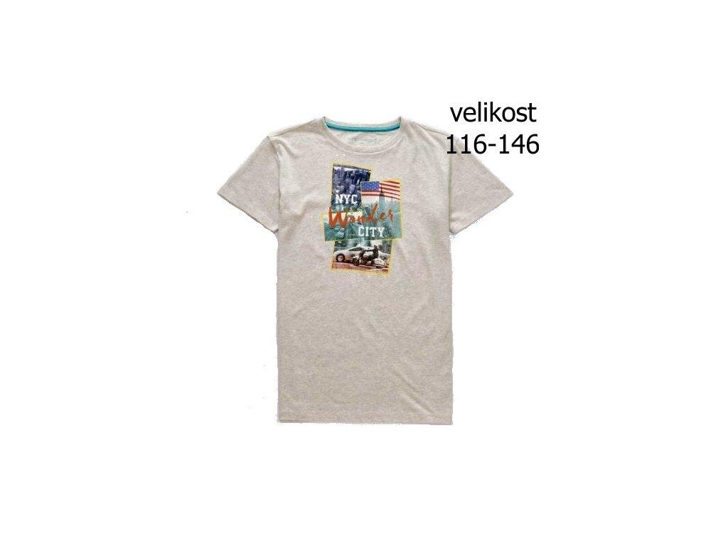 WOLF chlapecké tričko béžové S2802 vel. 116-146