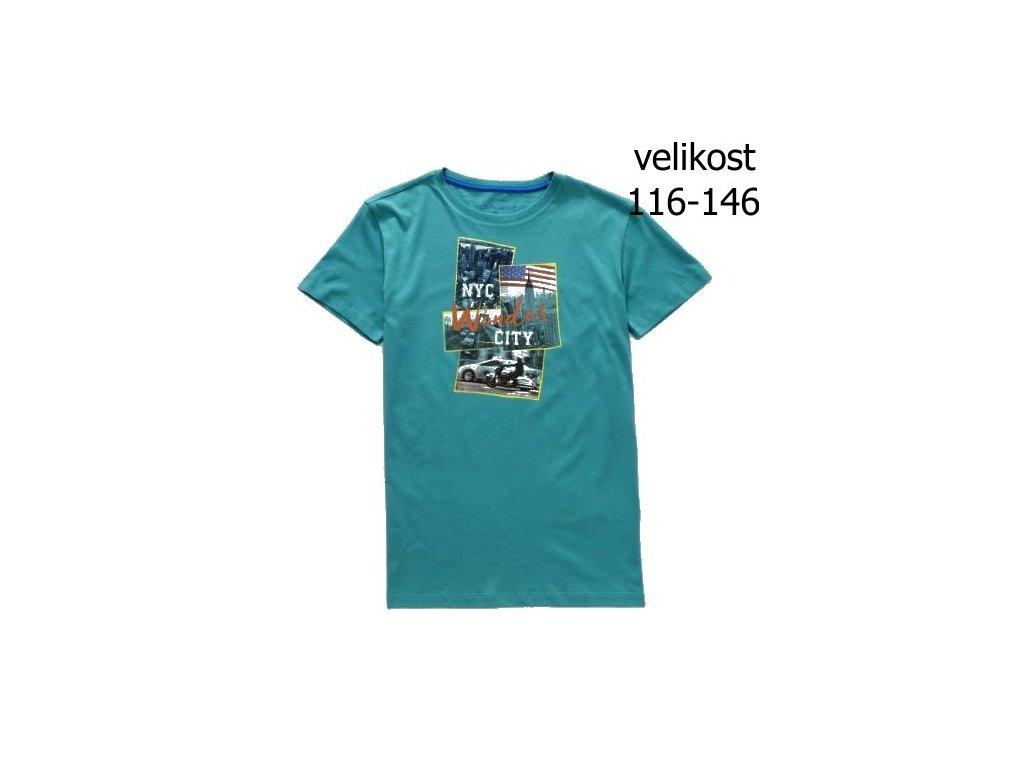 WOLF chlapecké tričko tyrkysové S2802 vel. 116-146