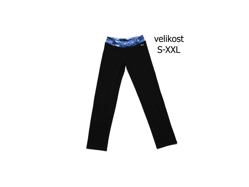 WOLF dámské legíny T2971 černé s modrým vel. S-XXL