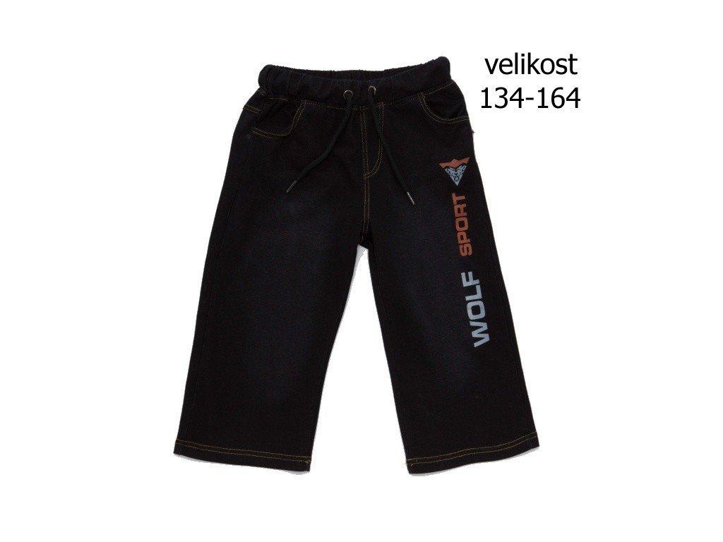 WOLF chlapecké riflové 3/4 šortky černé T2938 vel. 134-164