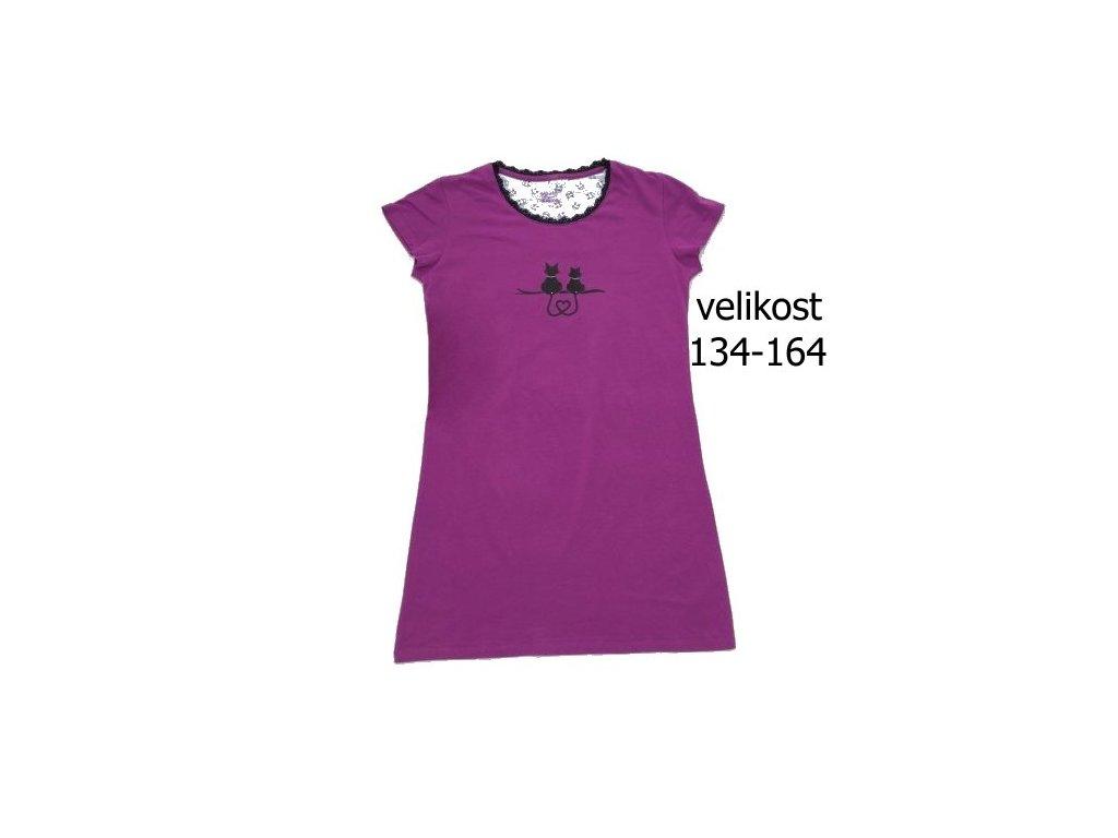 WOLF dívčí fialová noční košile S2982 vel. 134-164