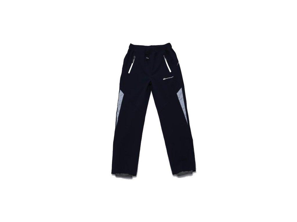 WOLF softshellové nezateplené kalhoty tm. modré B2985 vel. 152-170