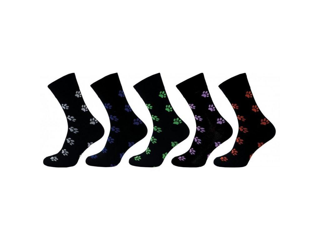 NOVIA dámské ponožky TLAPIČKY - 5 párů