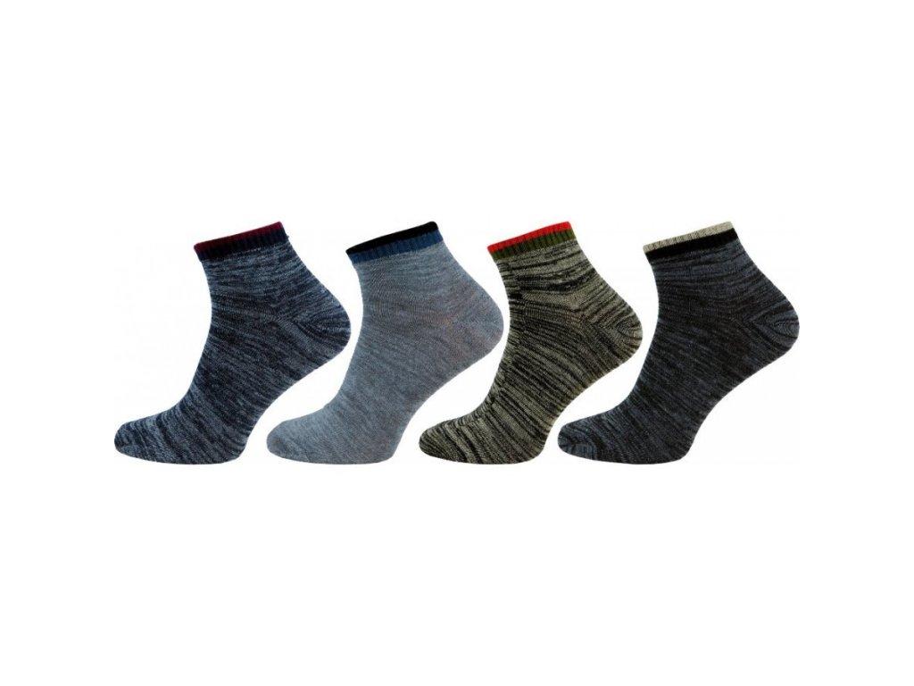 NOVIA pánské kotníkové ponožky 4 páry