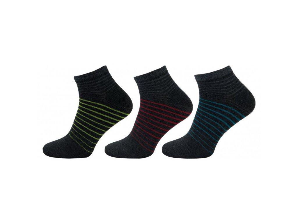 Pánské kotníkové ponožky 1120 - 3 páry
