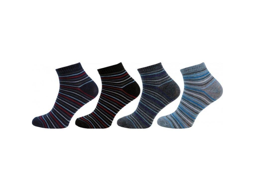Pánské kotníkové ponožky 1122 - 4 páry