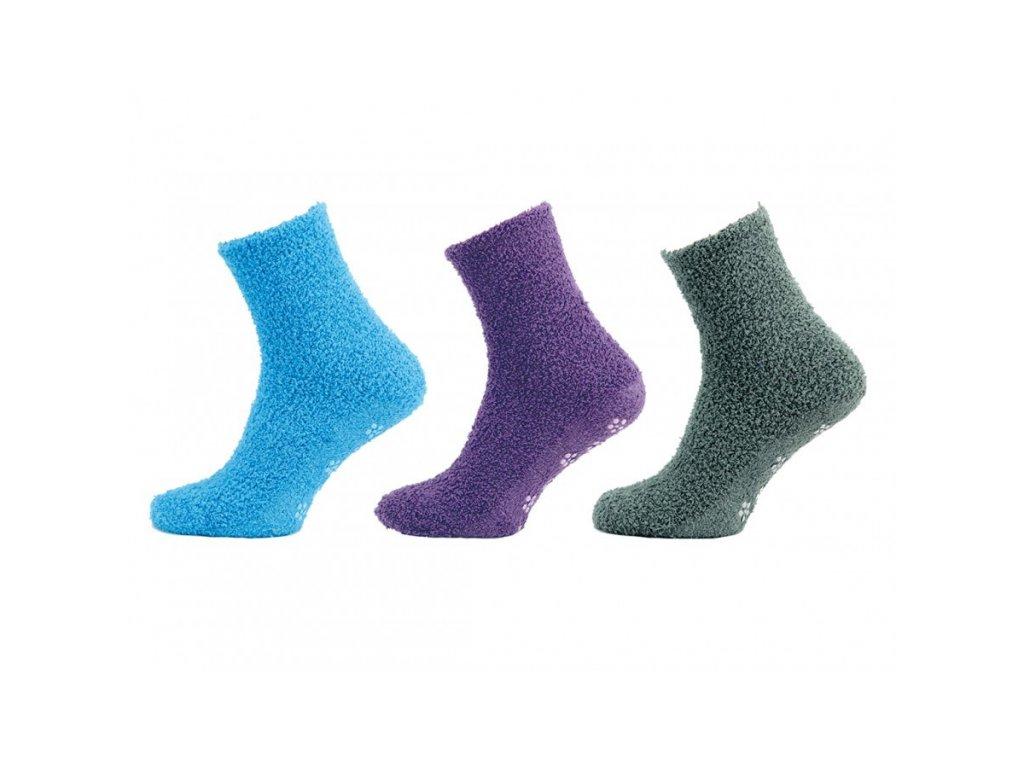 NOVIA dámské ponožky peříčko s protiskluzem