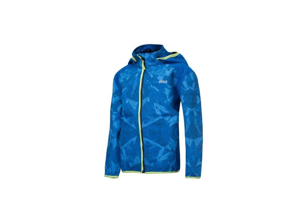 WOLF chlapecká jarní softshellová bunda modrá B2965 vel. 104-140