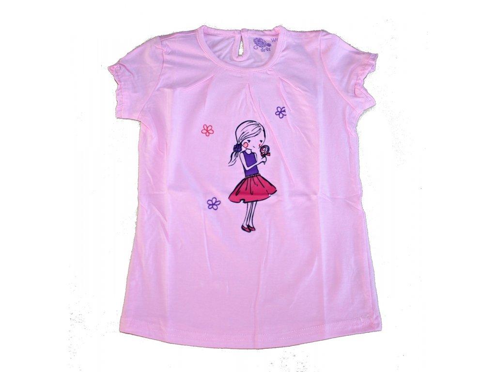 Dívčí tričko růžové Wolf S2410 vel. 80-110