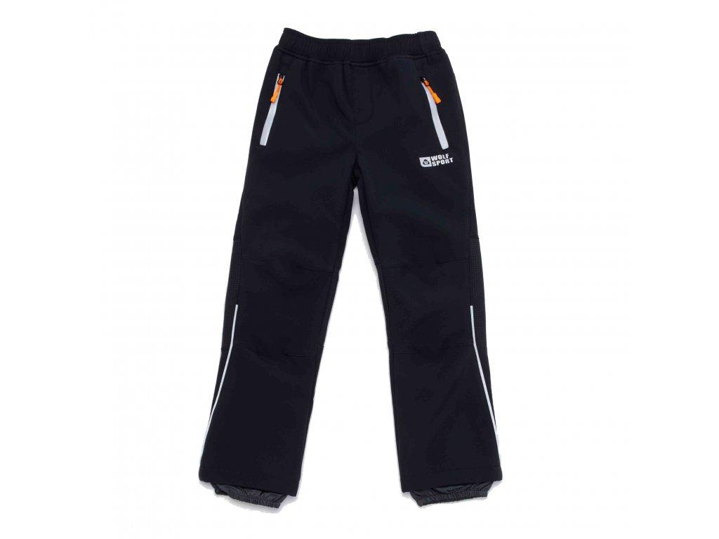 Chlapecké zateplené softshellové kalhoty tmavě šedé Wolf B2994A vel. 116-146