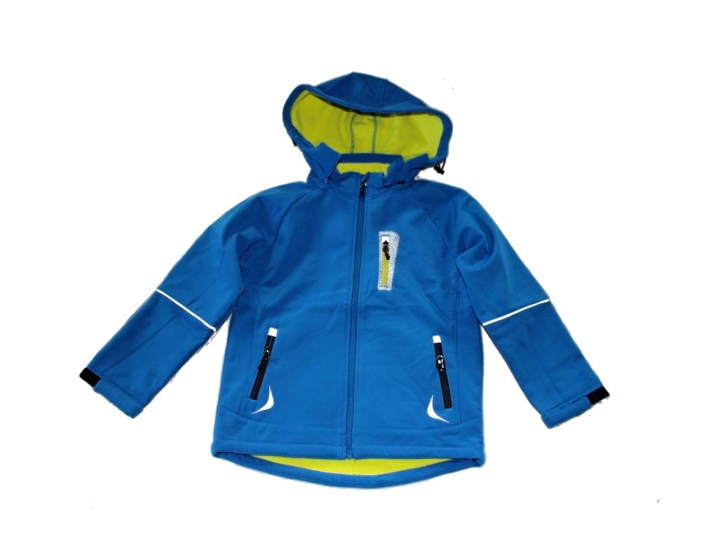 Softshellová bunda modrá Kugo S8108 vel. 134-164