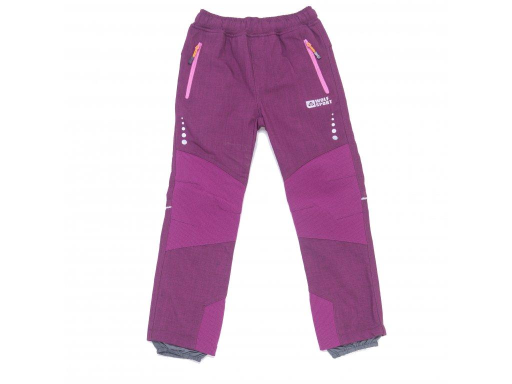 Dívčí zateplené softshellové kalhoty Wolf B2997 vel. 116-146