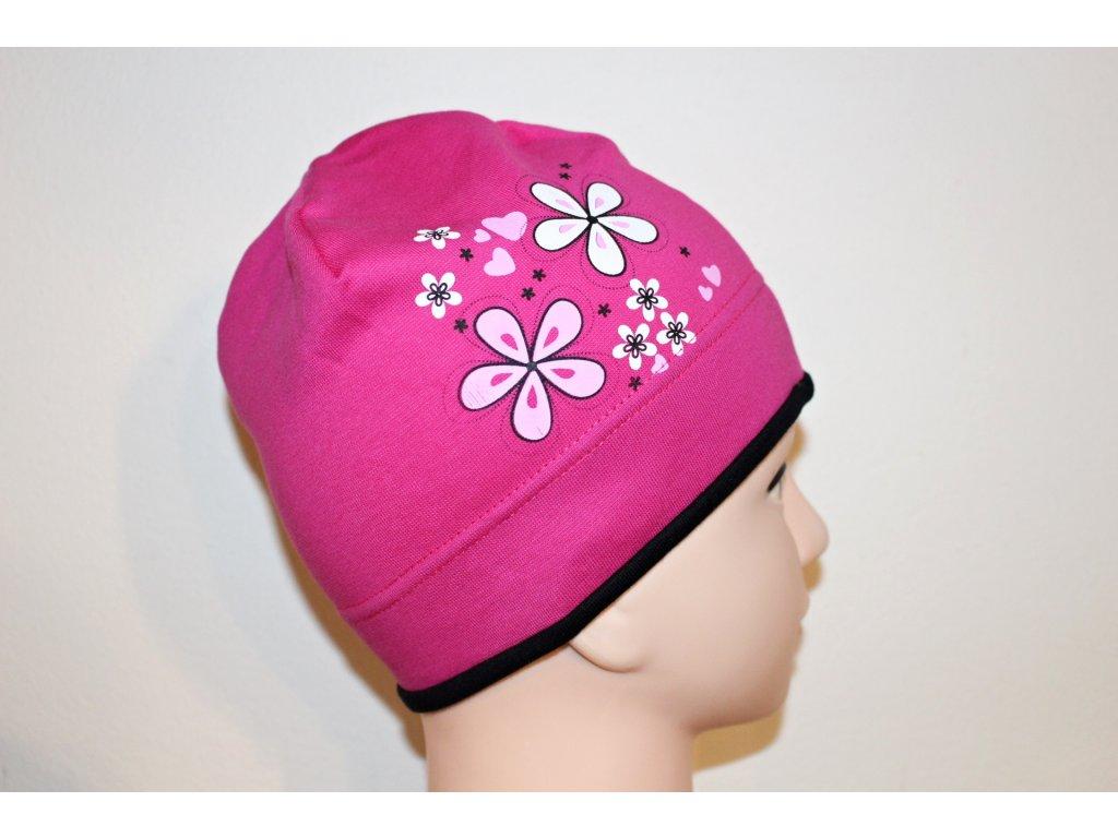 Dívčí čepice Viktorka růžová