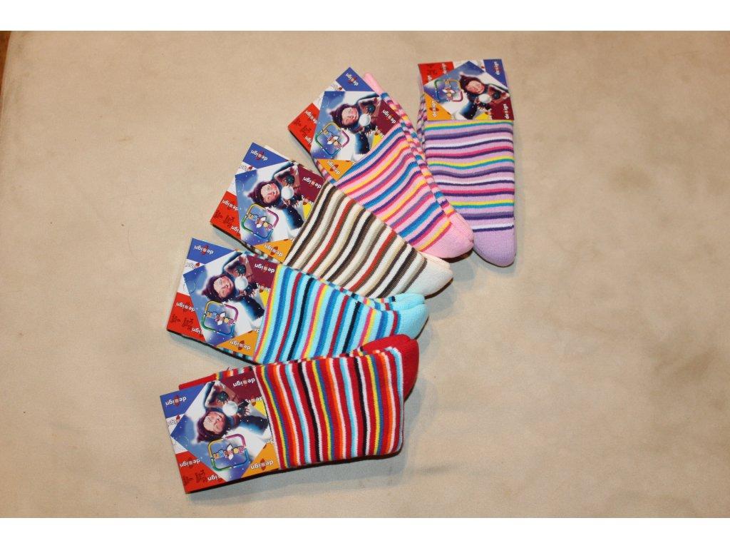 32-34 dětské froté ponožky Design Socks 9