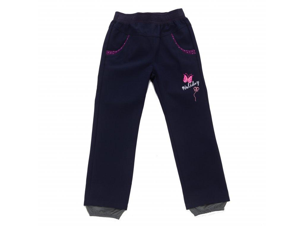 Dívčí softshellové kalhoty tmavě modré Wolf B2081 vel. 92-110