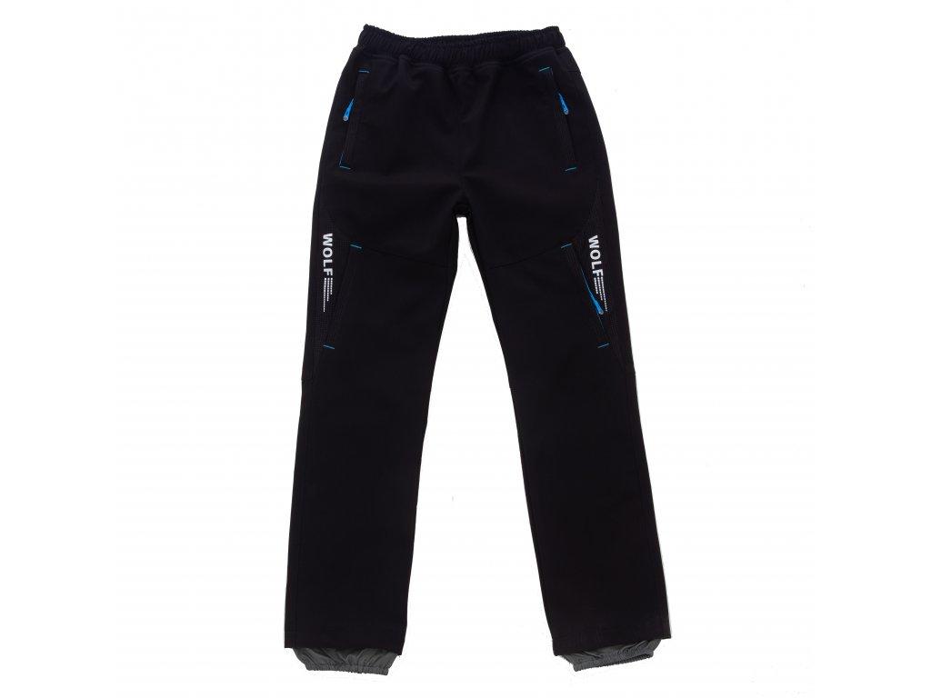 Chlapecké softshellové kalhoty černé Wolf B2084 vel. 116-146