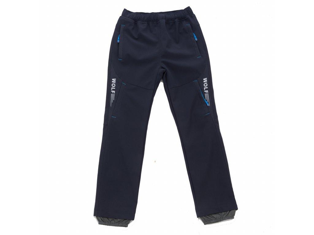 Chlapecké softshellové kalhoty šedé Wolf B2084 vel. 116-146