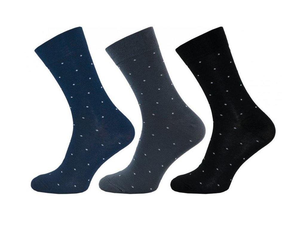 Pánské ponožky křížky 1040 - balení 3 páry