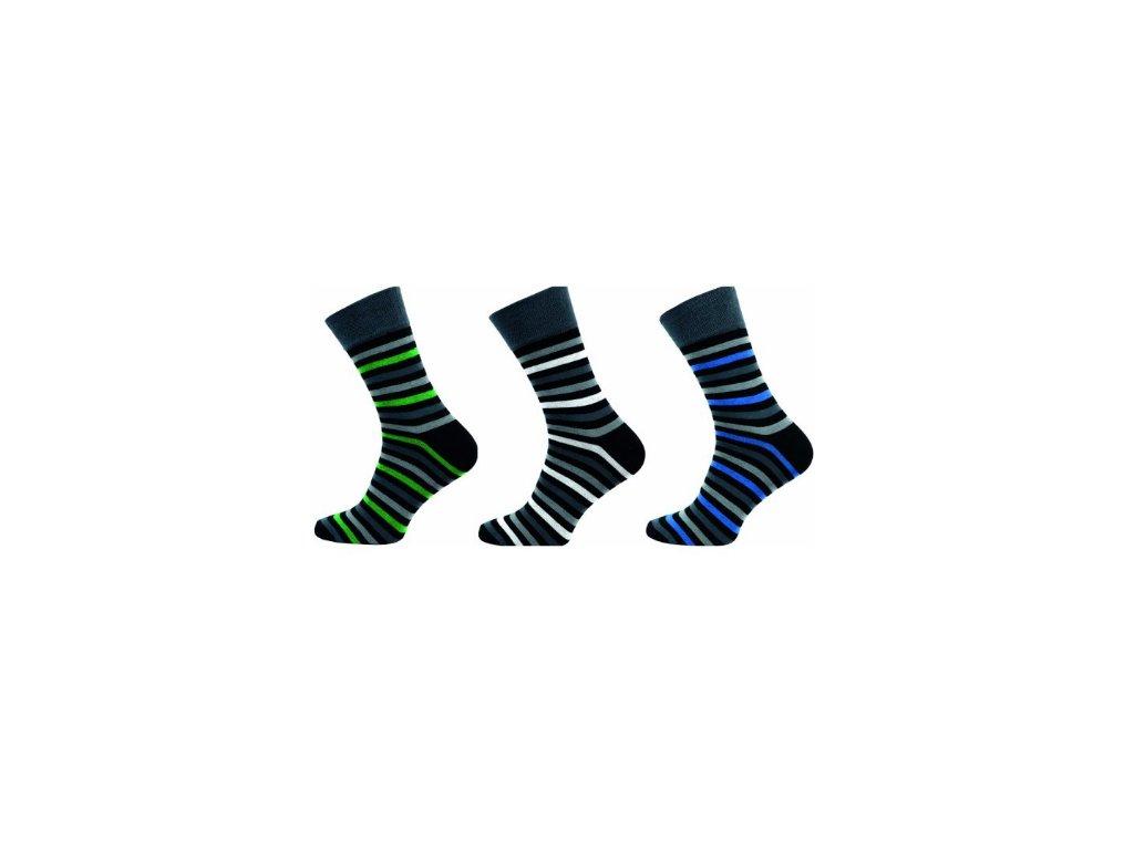 Pánské ponožky celoproužek 1042 - balení 3 páry