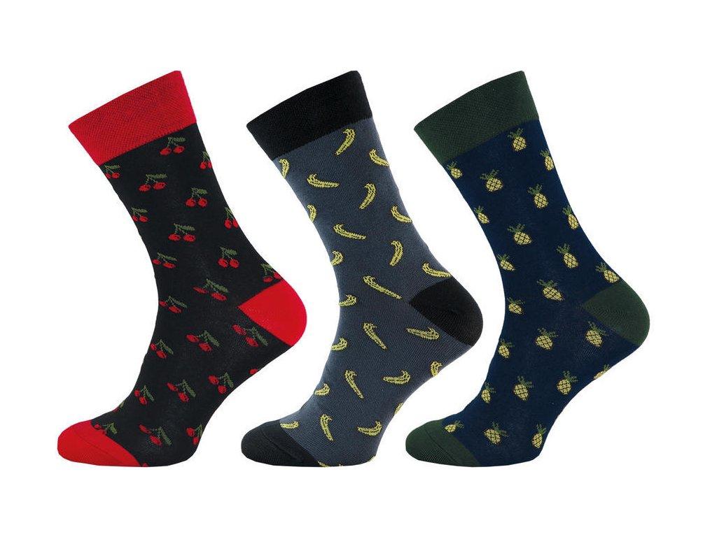 Ponožky Happy Socks ovoce 1002 - 3 páry