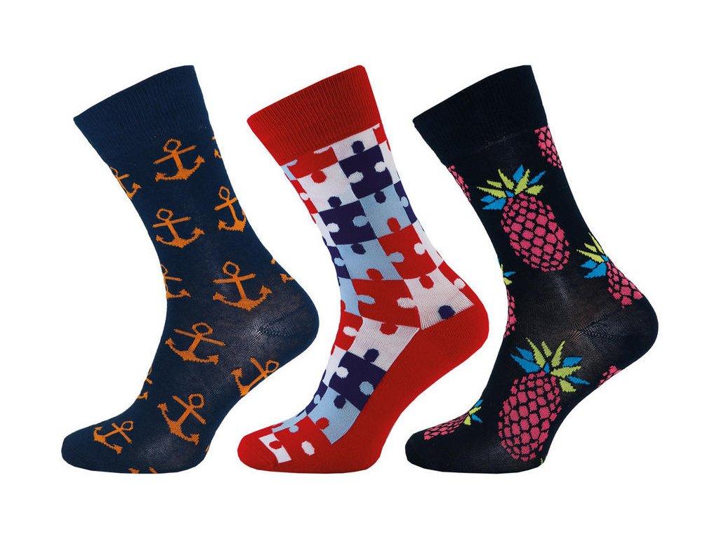 Ponožky Happy Socks kotva 1003 - 3 páry