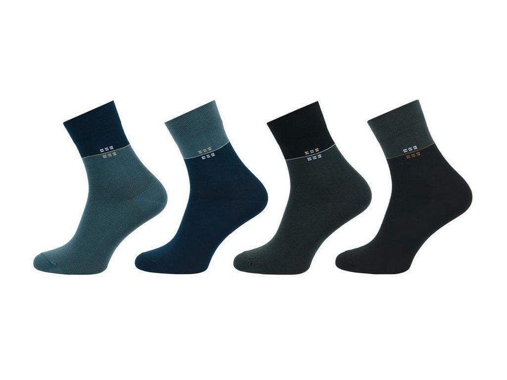 Ponožky comfort kostičky 1012 - 5 párů