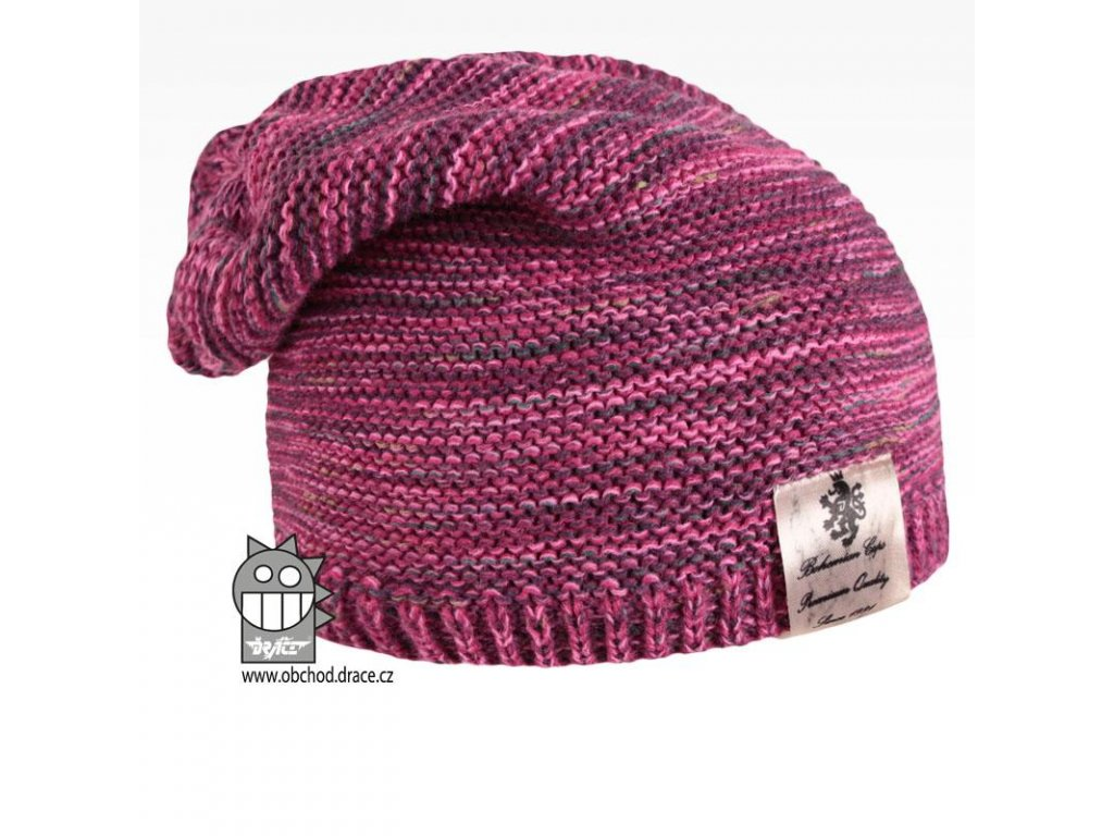 Pletená čepice Colors 08 růžový melír