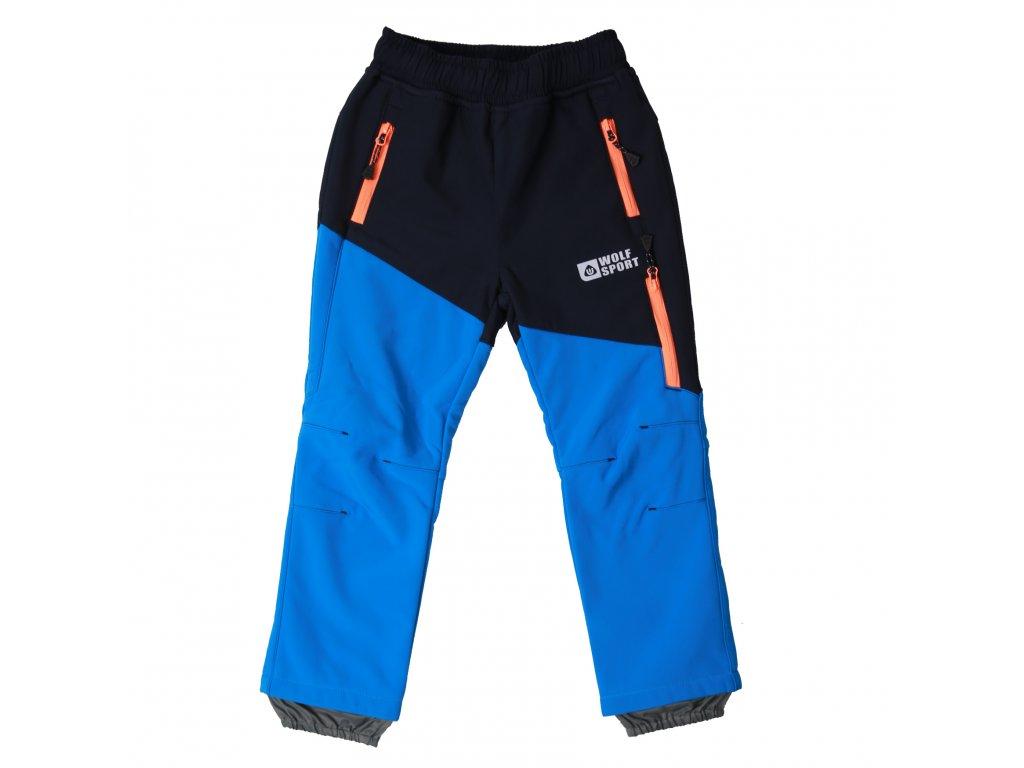 Chlapecké zateplené softshellové kalhoty modré Wolf B2097 vel. 98-128