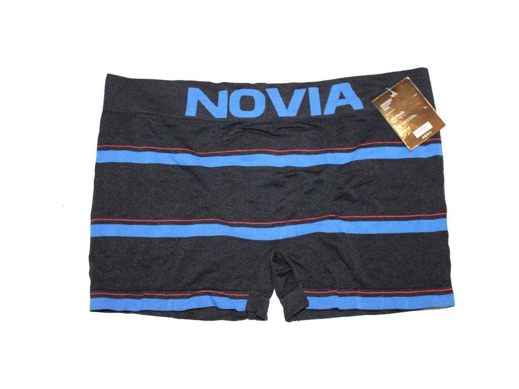 Pánské boxerky bezešvé černé