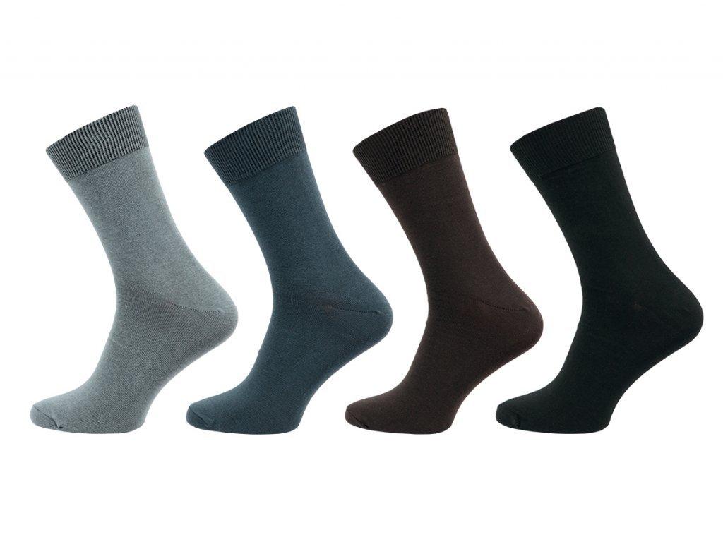 Pánské ponožky hladká Lycra 1051 - 5 párů