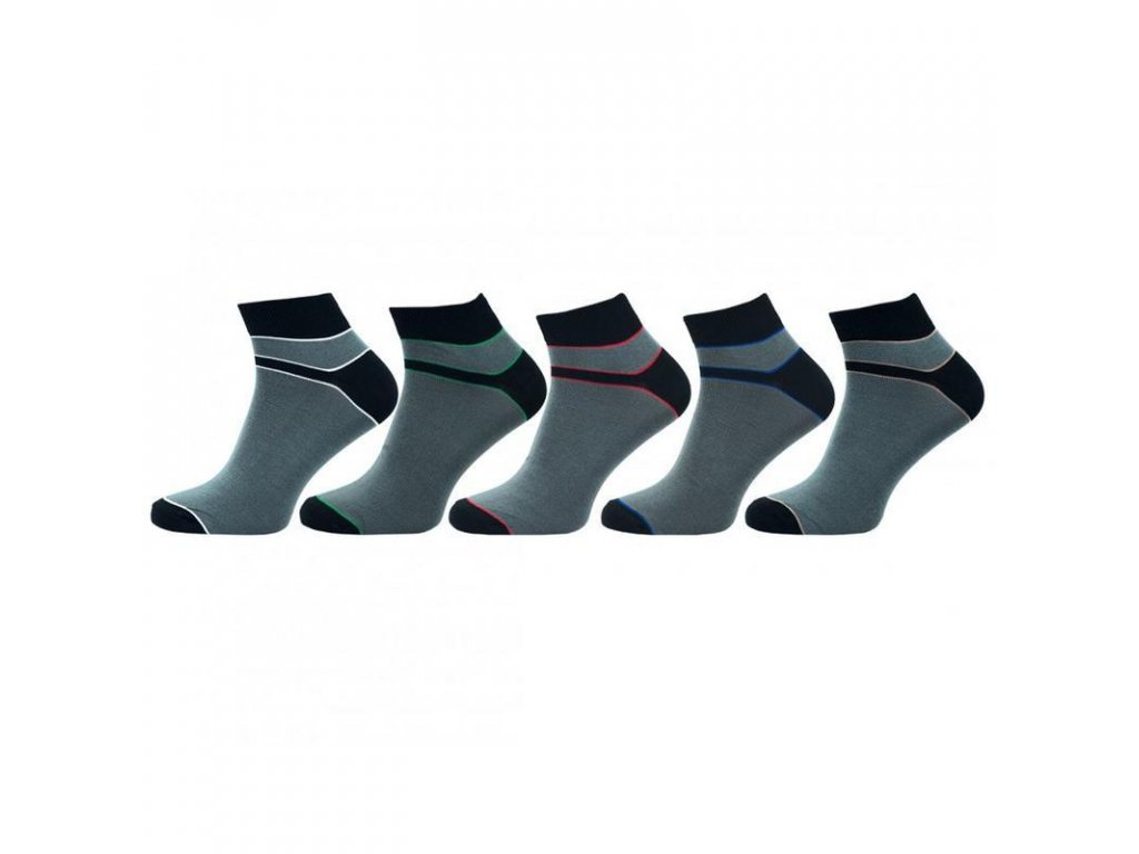 Pánské ponožky bambus vyšší lem 1030 - balení 5 párů
