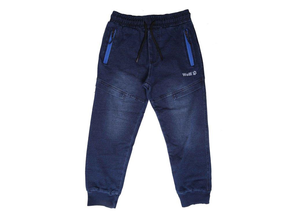 Chlapecké riflové tepláky modré Wolf T2162B