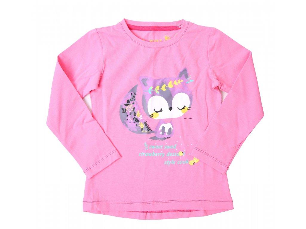 Dívčí tričko sv. růžové Wolf S2141B