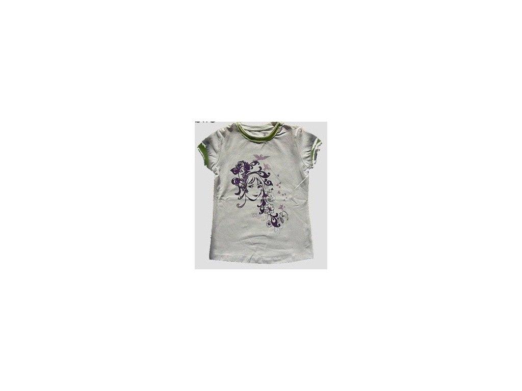 Dívčí bílé triko WOLF S2112 vel. 104
