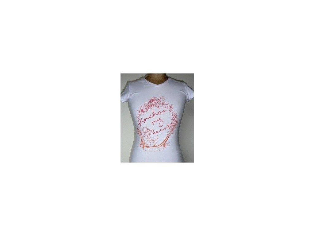 Dívčí bílé triko WOLF S2218 vel. 146