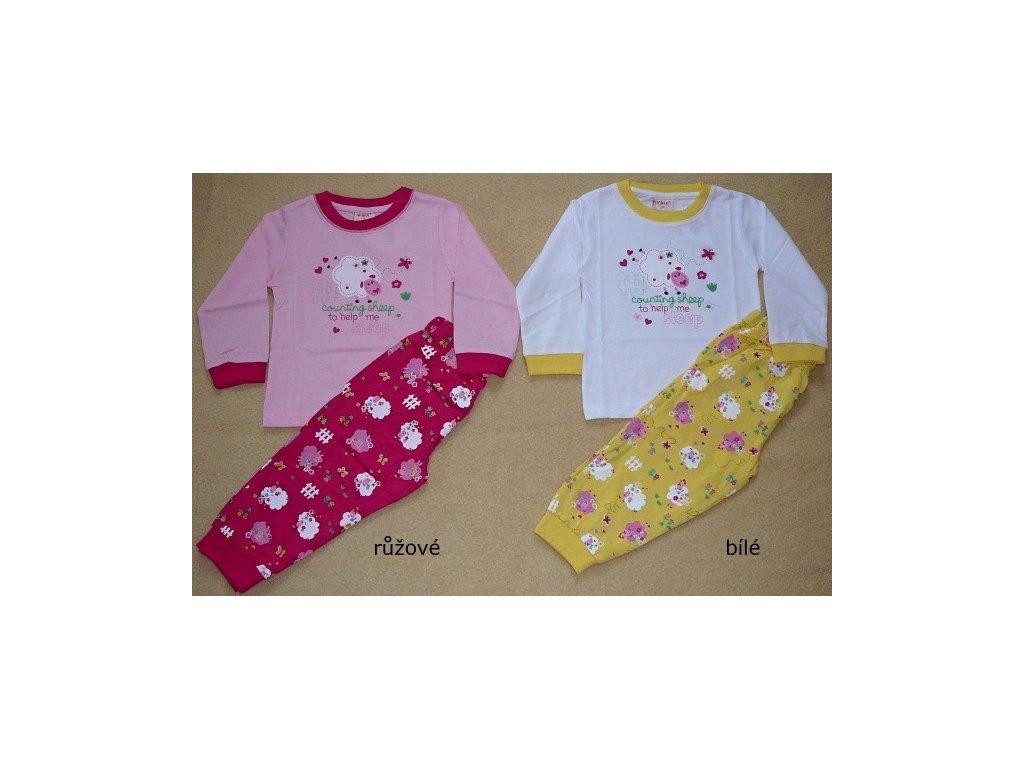 Dívčí pyžamo s ovečkama WOLF 74-80-86-92