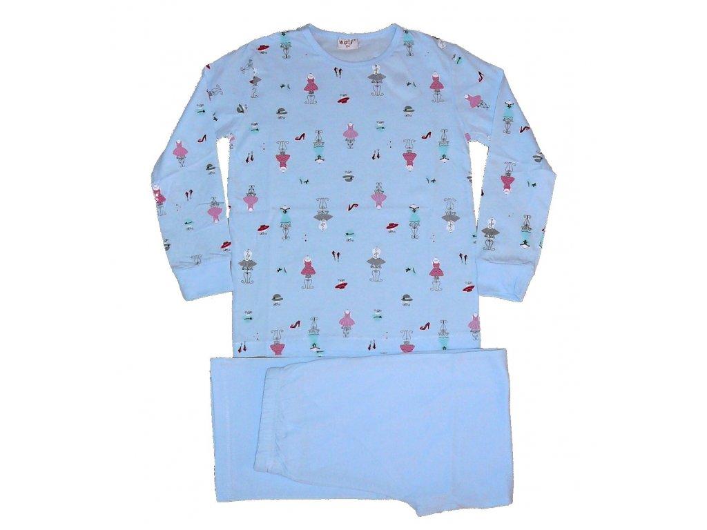 Dívčí modré pyžamo 164