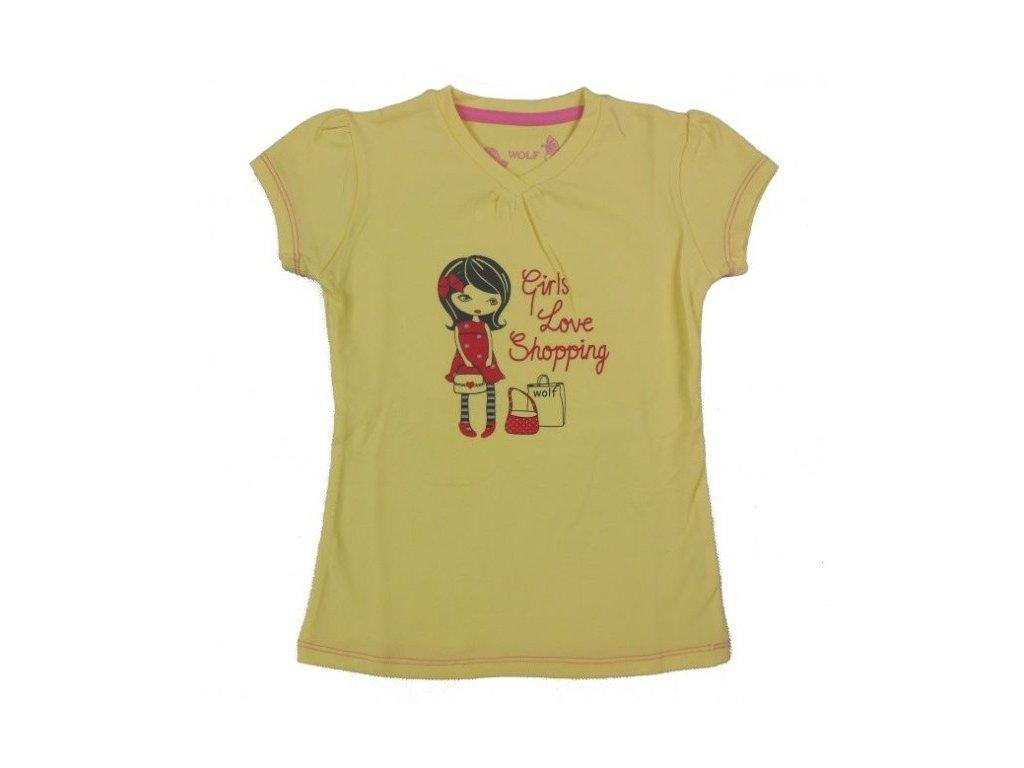 Dívčí žluté triko WOLF S2311 vel. 98,104