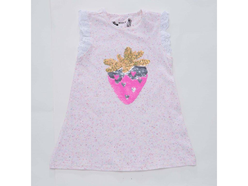 Dívčí růžové triko WOLF S2311 vel. 98