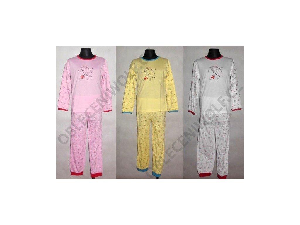 Dívčí dlouhé pyžamo WOLF 98-104-110-116-122-128
