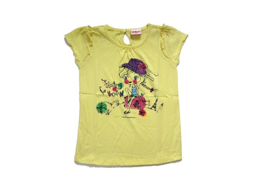 Dívčí žluté triko WOLF 80-90-100-110