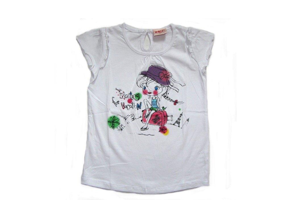 Dívčí bílé triko WOLF 80-90-100-110