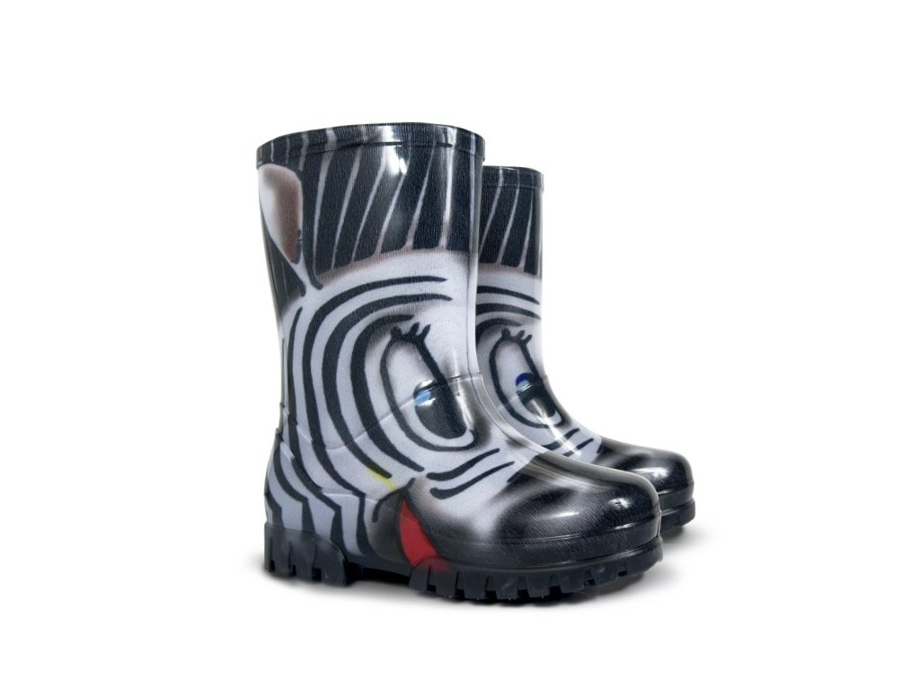 Holínky DEMAR  TWISTER PRINT S zebra