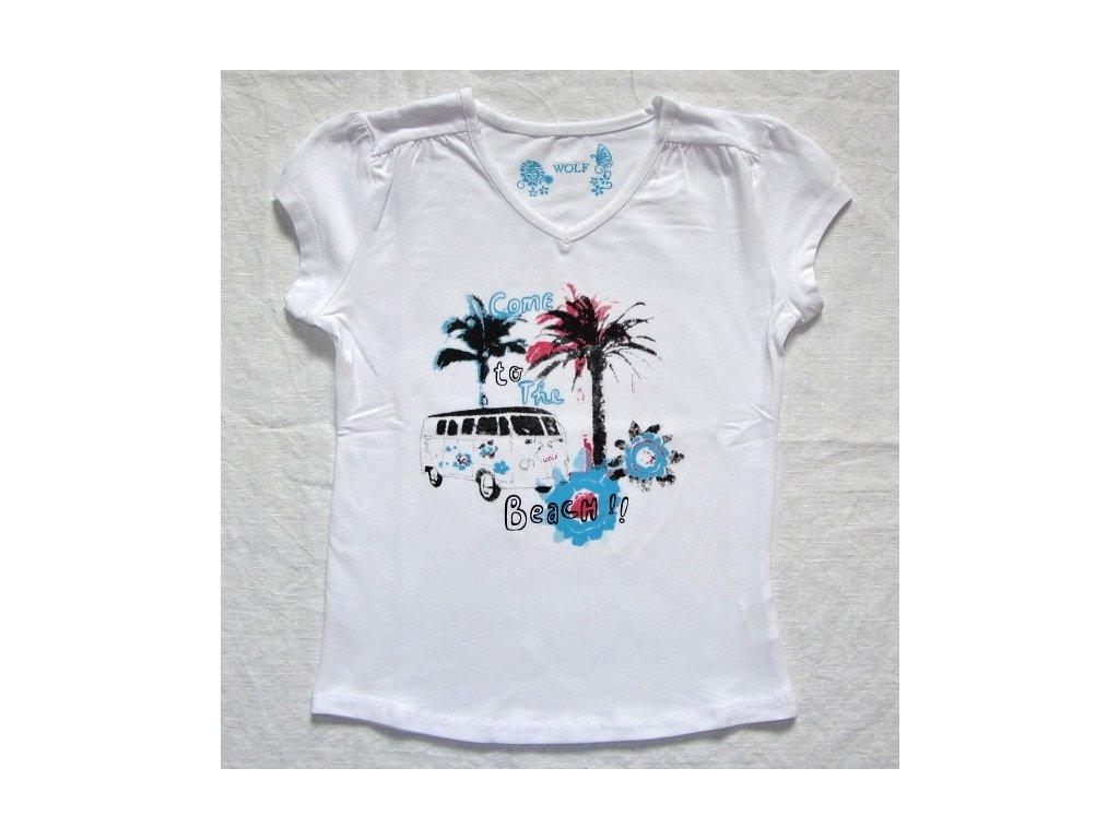 Dívčí bílé triko WOLF S2212 vel. 104