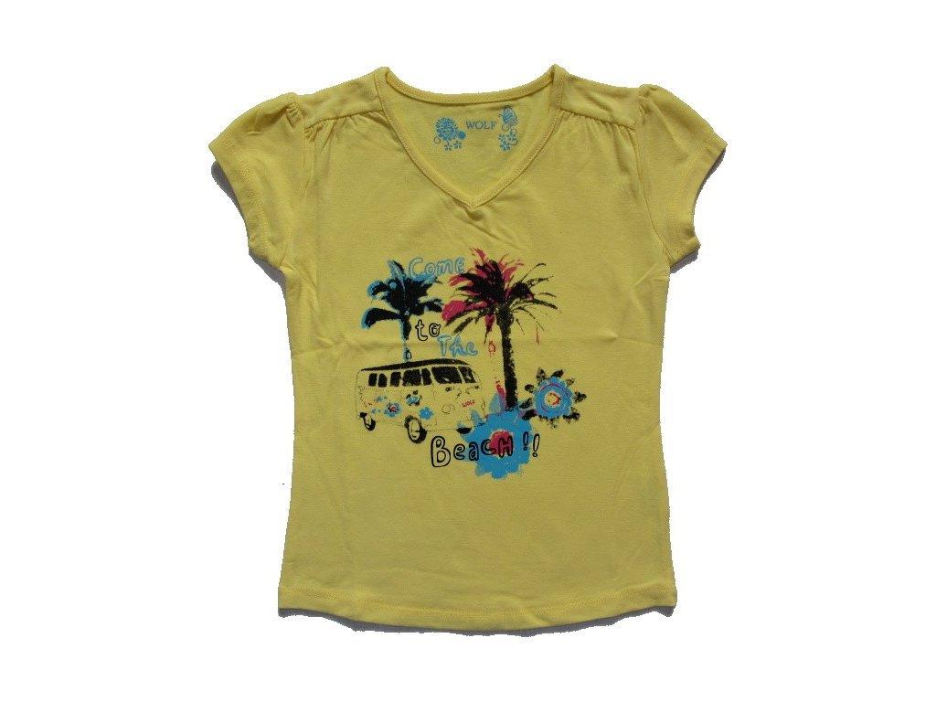 Dívčí žluté triko WOLF vel. 98